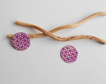X 2 charms, purple and ivory sequins