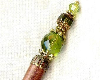 OLIVINE Crystal Cathedral antique Bohemian HS058 hair