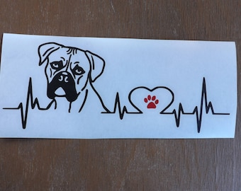 Boxer Decal-dog lover gift-dog breed-gift for dog lover-dog stickers-dog decal-car decal- pet decal-gifts for dog lovers-dog gift