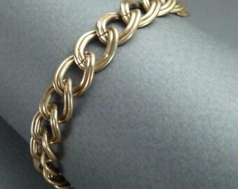 10 k gold link bracelet