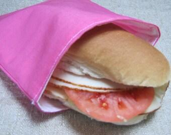 Sale!! Reusable Sandwich Bag - Pink