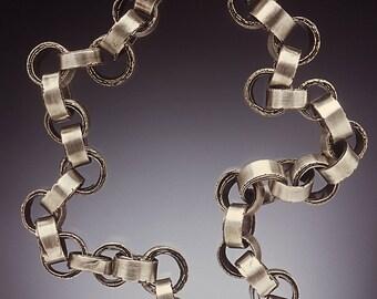 Silver Rough Edge Necklace