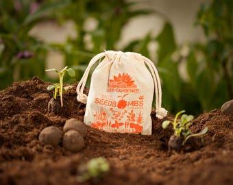 """Seed Bombs """"Italian Garden"""", 8 walnut sized & handmade seed balls"""