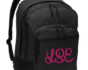 Personalized Backpack- Monogrammed Bag- Custom Embroidery School Bag- Laptop  Sleeve- Embroider Name