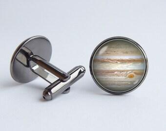 Jupiter cufflinks Husband gift Cuff links Space Planet cufflinks Universe cuff links Cosmos jewelry Jupiter planet cuff links Galaxy gift