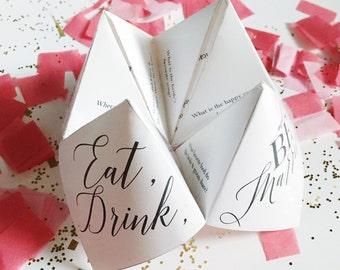 Printable Wedding Program/Menu/Favor - Cootie Catcher/Fortune Teller - Wedding Program Template - Printable Template(Extra Flexible Version)