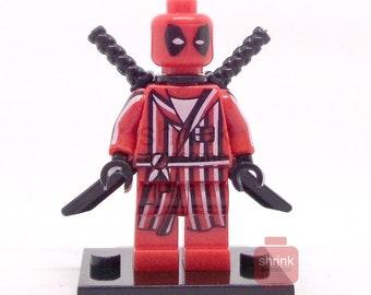 Custom DEADPOOL Ferris Bueller Robe Movie Inspired Minifig Blocks Compatible Marvel MCU  Uk Seller