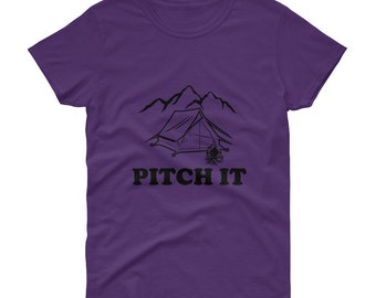 Women's Pitch It short sleeve Camping t-shirt