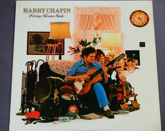 "Harry Chapin - Living Room Suite - ""Flowers Are Red"" - ""Dancin' Boy"" - Folk Rock - Elektra Records 1978 - Vintage Vinyl LP Record Album"