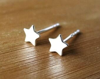 Tiny Star Earrings, Sterling Silver Earring Studs, Celestial Jewelry, Star Stud Earrings, Star Jewelry, Black Friday Sale, Hypoallergenic