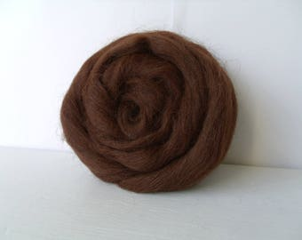 20g alpaca wool felting or spinning is extremely soft and thin Brown