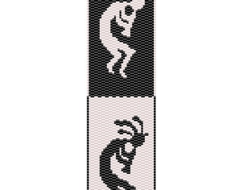 Kokopelli Peyote Cuff Bracelet Pattern