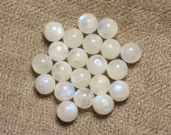 4pc - Moonstone - stone beads 6-7mm 4558550027948 balls