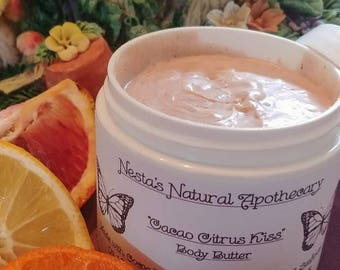 Cacao Citrus Kiss~ Tangy Orange, Bergmont & Cacao Body Butter
