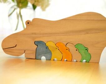 Hippo puzzle