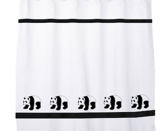 Giant Panda Bear Shower Curtain In Your Choice Of Colors   Our Original.