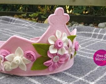 Eco Friendly 100% Wool Dress up Crown, Pretend Crown, Play Crown, Princess Crown, Costume Crown, Party Hat, Birthday Crown, Photo Prop