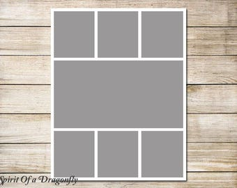 11x14 Storyboard Collage Template Photographer Template 11x14 Photo Collage Template