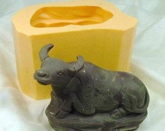 Buffalo 3D Flexible Silicone Mold Silicone Mould Candy Mold Chocolate Mold Soap Mold Polymer Clay Mold Resin Mold R0510
