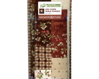 "PIONEER SPIRIT Log Cabin Table Runner Pod - 13"" x 45"" precut kit"