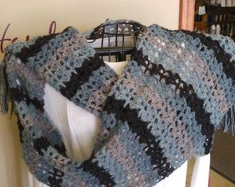 Handmade alpaca shawl