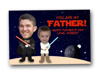 Father's Day photo card, Star Wars, dad digital file, printable, digital download