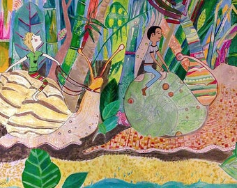 Art Print: Land Snails