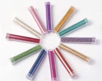 1 tube sandblasted 10gms glass Pearl multi color choice