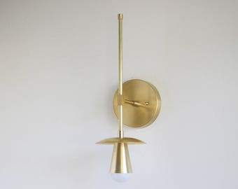 Unfinished Brass Wall Sconce  light,   Mid Century brass wall sconce light