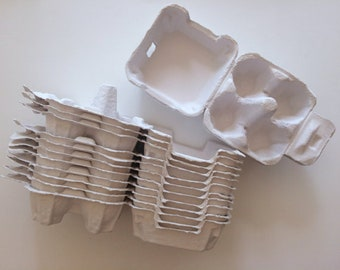 100 egg cartons (4hd type) in white or green