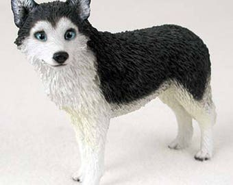 Custom Painted Siberian Husky Dog Figurine
