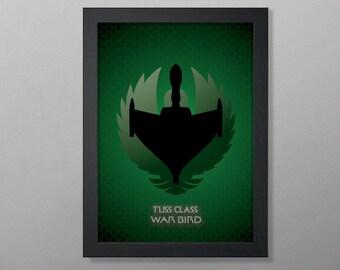 Star Trek Ships of the Fleet: Romulan War Bird (Star Trek the Next Generation) Art Poster Print