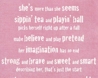 Digital Download, Sugar and Spice and Everything Nice, Girl's Nursery Print, Sugar and Spice Poem, Baby Shower,Baby Shower
