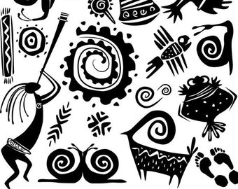 Aztec Soul - Ceramic Decals- Enamel Decal - Fusible Decal - Glass Fusing Decal ~ Waterslide Decal - 11582004