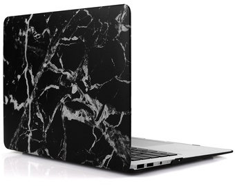 Black Marble MacBook Air computer case Hard Plastic Case for MacBook Air 13 inch Model A1369 and A1466