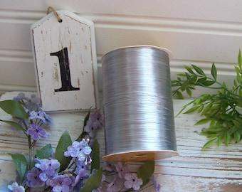 Silver Raffia Ribbon, Raffia, Metallic Silver Raffia, Elegant, Shabby Style, Cottage Chic, Package Raffia, Decorative Raffia, Gifts, Trims