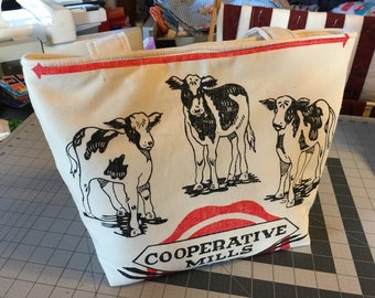 Feed sack Cows Handbag
