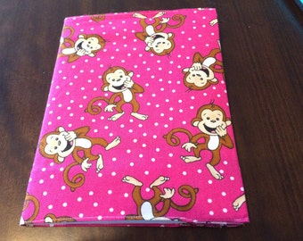 Monkey Business Fabric Covered Notebook