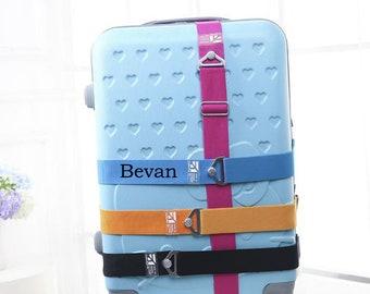 Personalized luggage belt Suitcase packing belt Customize your name luggage strap