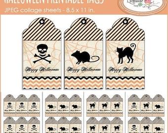 50%OFF Halloween tags, Halloween gift tags, Halloween party decor, Halloween gift tags, Vintage halloween tags Pr 312