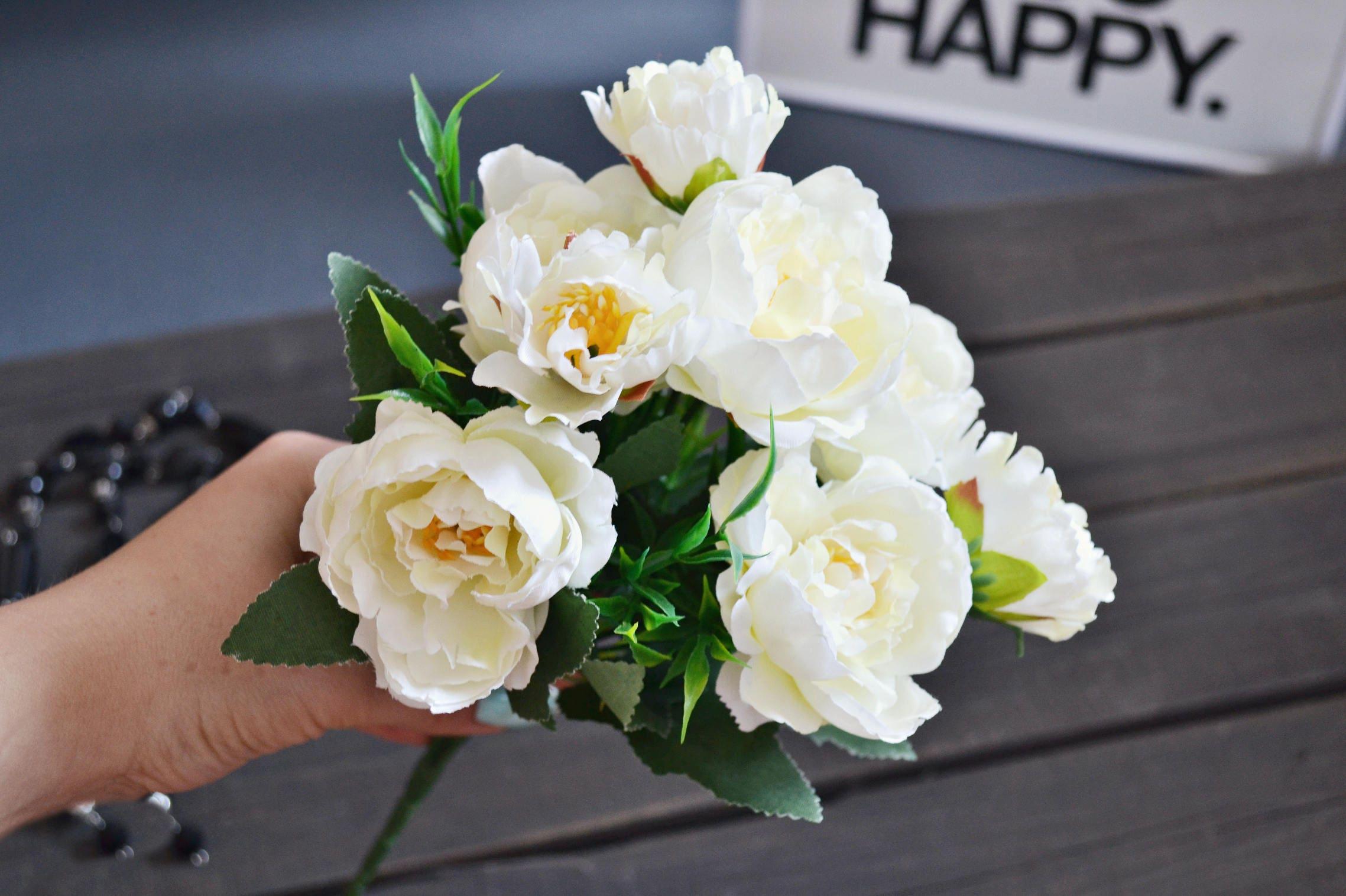 Home Flowers Decor Ivory Peony White Peony Peony Bouquet