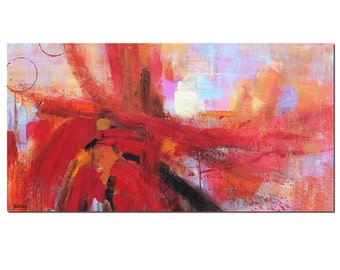 Abstrakte Malerei, Leinwandmalerei, Abstrakte Kunst, Wandkunst,  Original Gemälde, Wohnzimmer Kunst