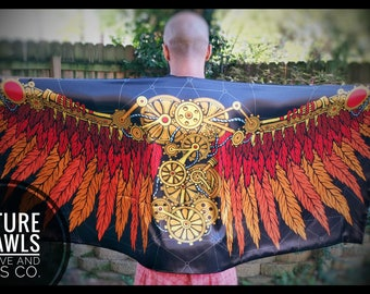 Bionic Wings 'Future Shawl' - Fire Color