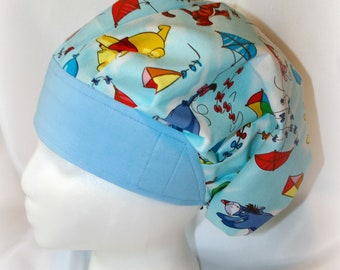A Blustery Day Bouffant style scrub hat