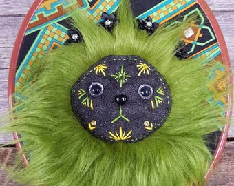 Fyddle - OOAK Upcycled Vintage Textile Wall Monster