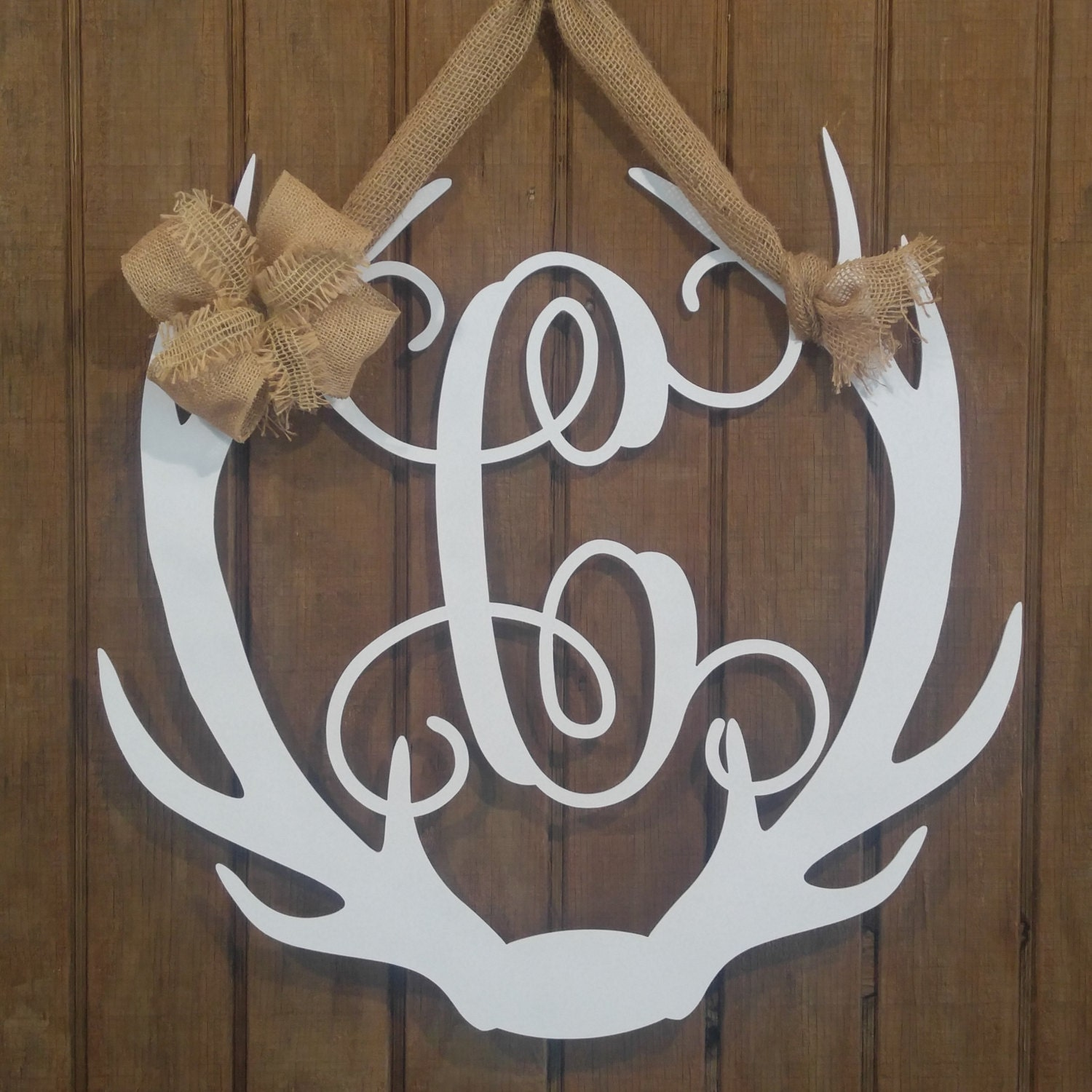 Antler Wreath, Door Hangers, Antler Decor, Antler Door Hanger, Antler  Monograms, Hunting, Monogram Door Sign, Deer Decor, Front Door Decor,