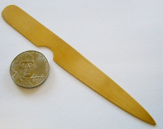 """Artisan, 10K Solid Yellow Gold, """"HANDMADE""""  Large Nail Pick/Cuticle Pusher.… by Jewelry Designer, Steve Haddad"""