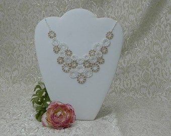 Elegance, Swarovski Crystal Necklace, Couture Bridal Wedding Necklace, Statement Necklace, Champagne, Mothers Day Gift