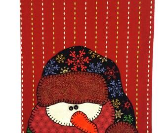 Christmas Tea Towel, Christmas Snowman Applique, Applique Tea Towel, Dish Towel, Hand Towel, Kitchen Towel, Christmas Decor, Christmas Gift