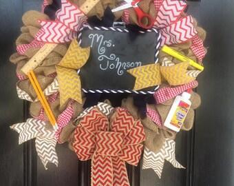 School Days Wreath